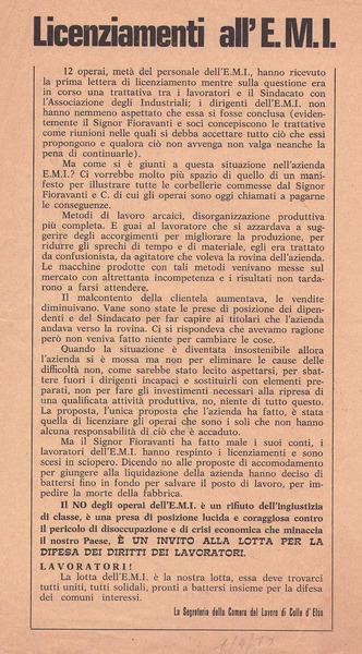 1970 | Licenziamenti all'Emi
