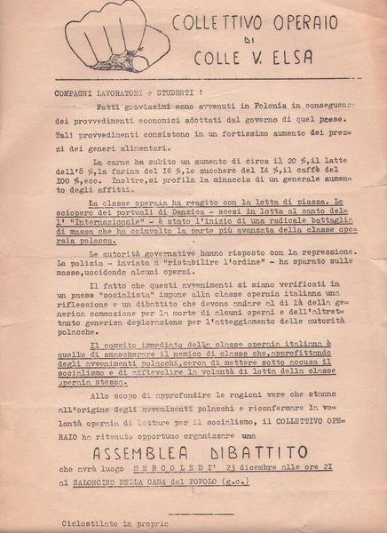 1970   Per gli scioperi in Polonia