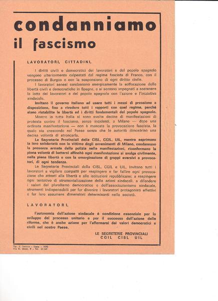 1970 | Condanniamo il fascismo